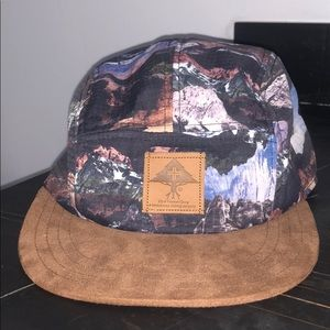 LRG Mountains Leather Clasp Hat